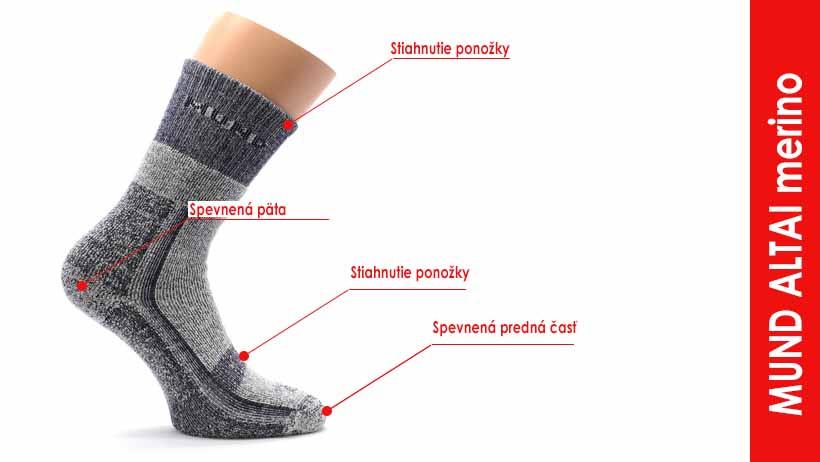 info grafiak merino ponožky Mund Altai