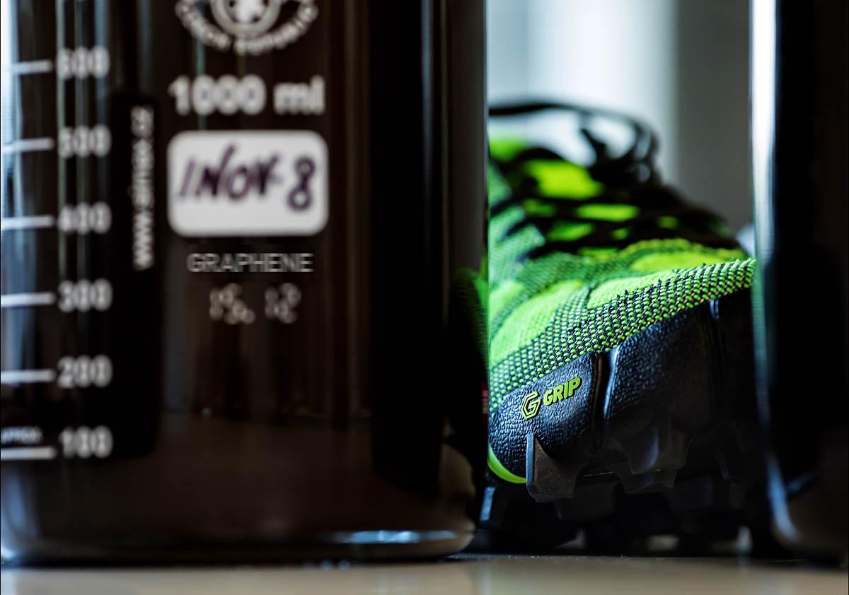 Inov-8 topánky s graphene materiálom, prvá bežecká topánka ktorá ho má v sebe
