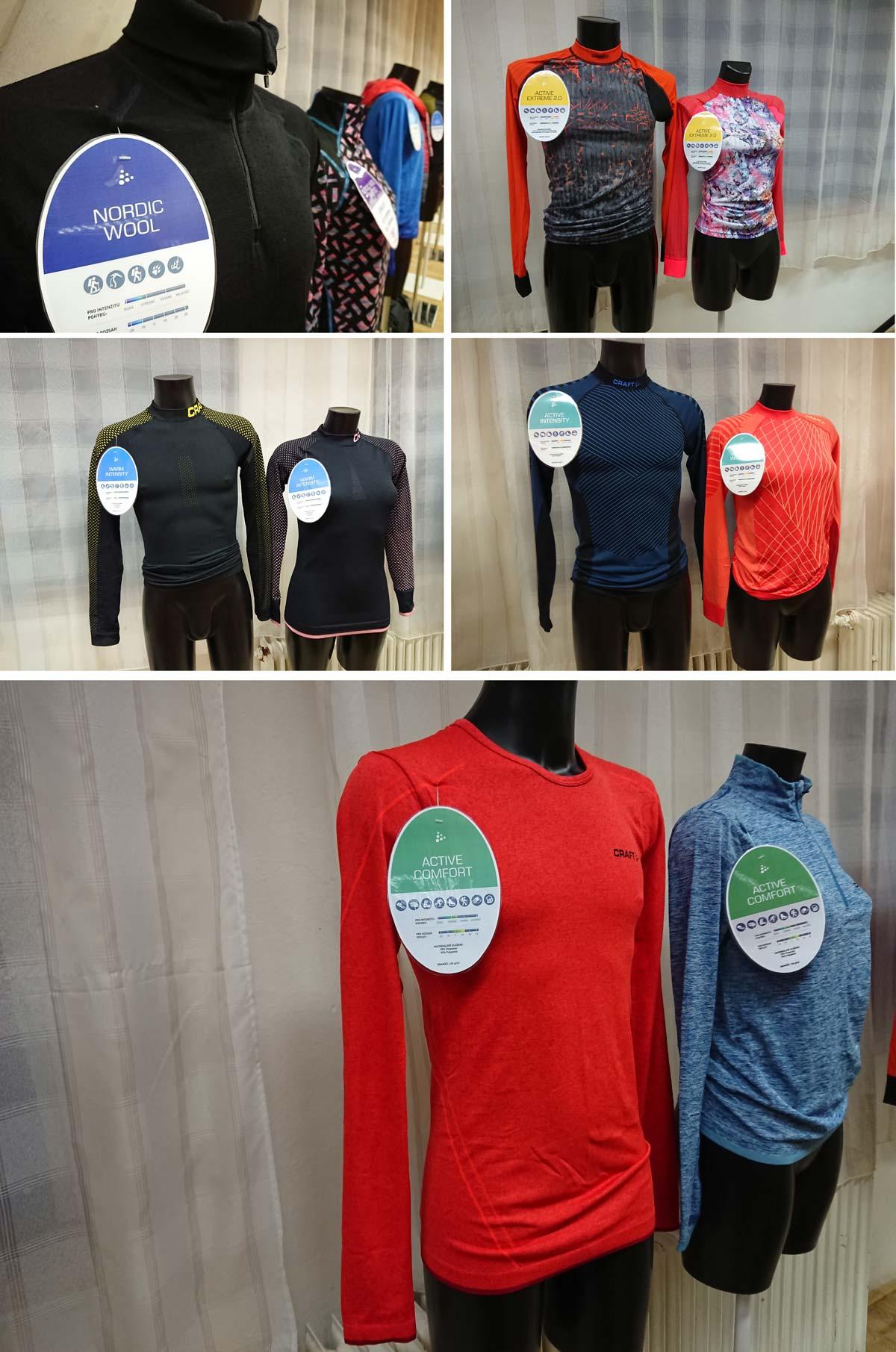 Inov-8 trail run festival 2017, výstava funkčného prádla od Craft