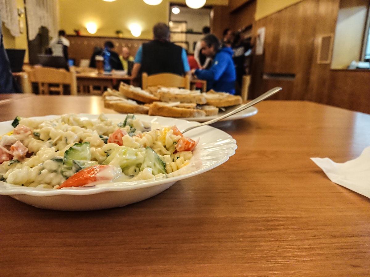 Jedlo na trail run festivale organizované Inov-8