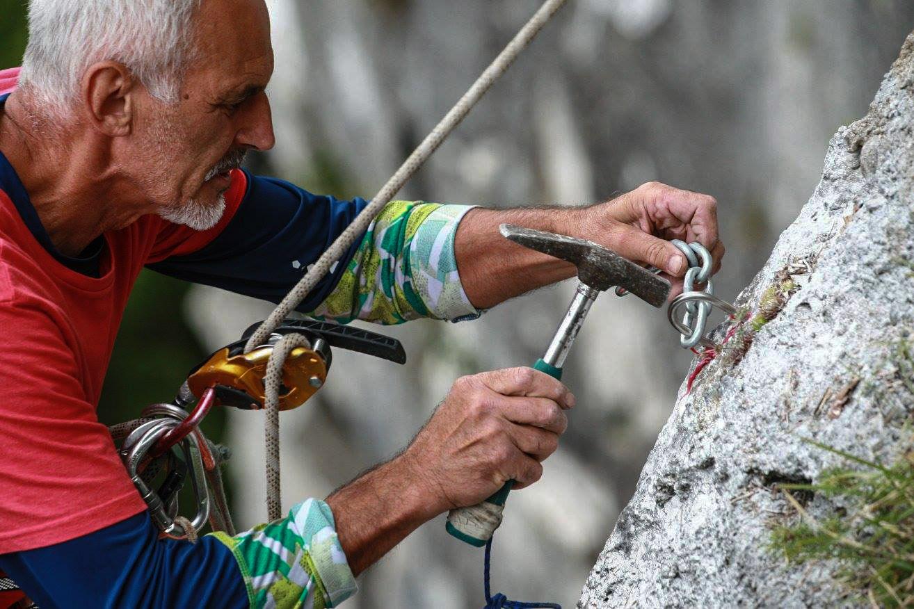 Preisťovanie v lezeckej oblasti Komjatná blízko ružomberku
