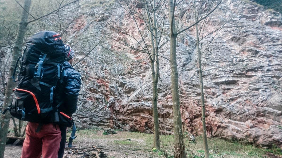 Priedhorie lezecká oblasť k60, vhodná pre začiatočníkov