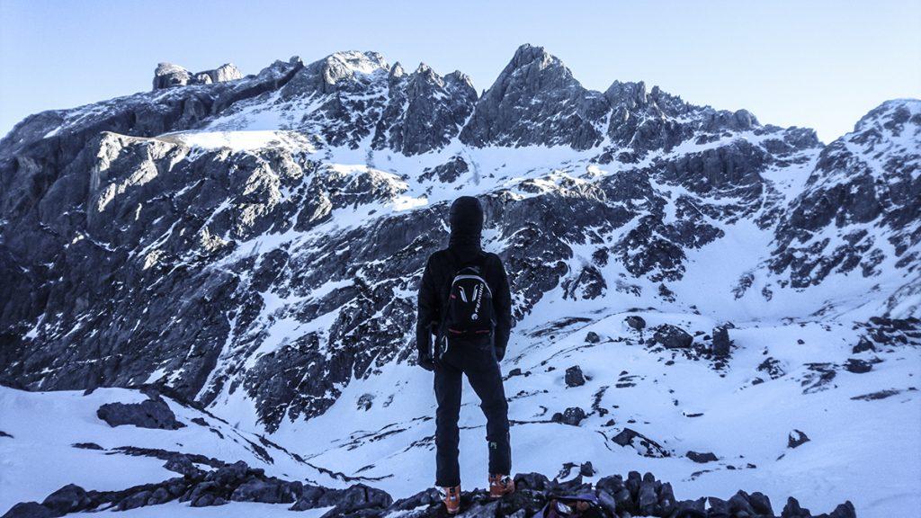 Karpos schiara nohavice v alpách an skialpovej túre
