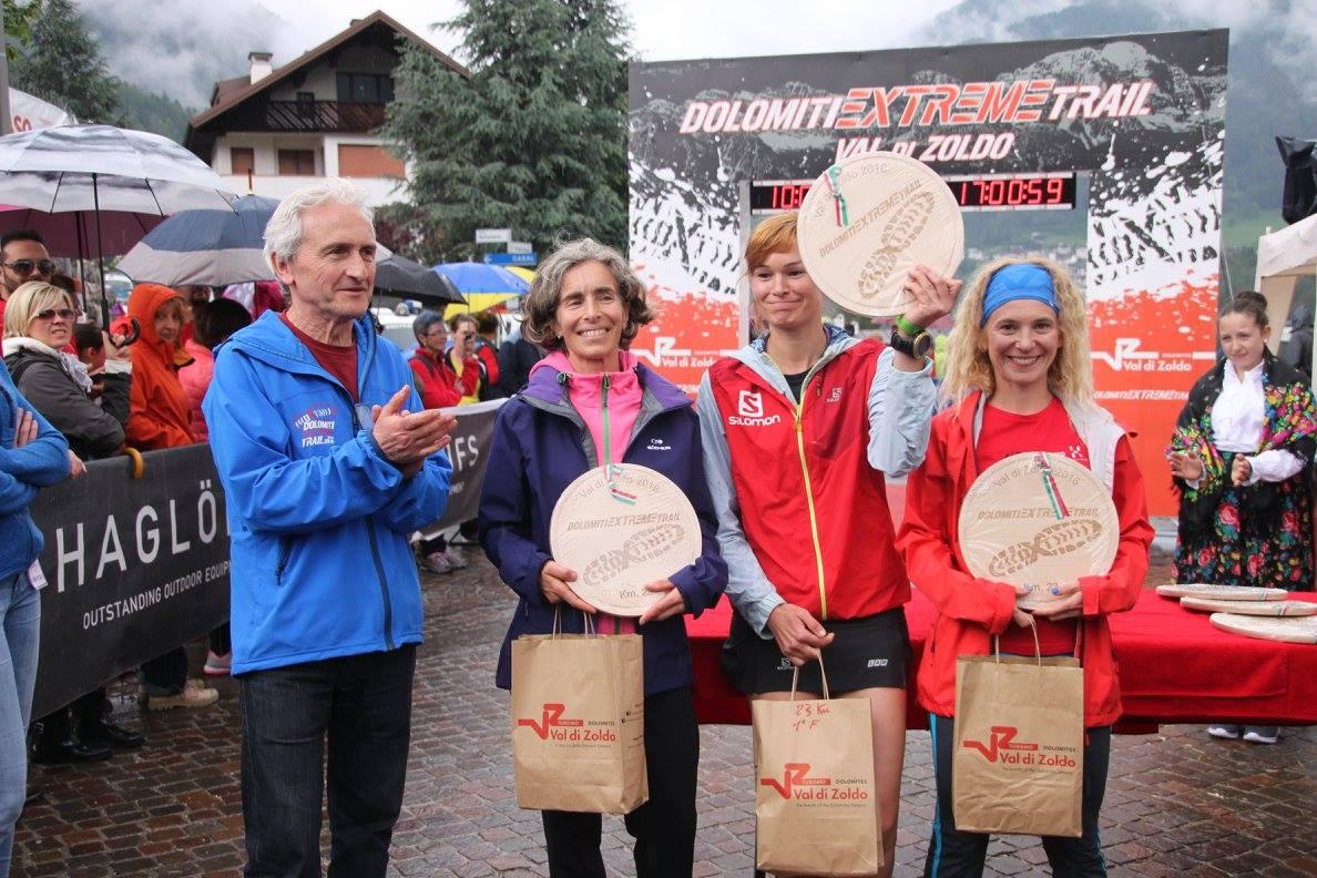 Expresky z hôr 15 - Dolomity Extreme Trail 2016, prvé miesto na 23 km trati pre Katku Lovrantovú, zdroj: FB fanpage DET