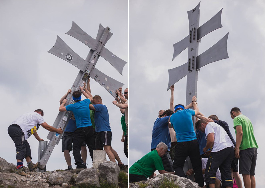 Expresky z hôr 14 - Obnova kríža na malofatranskom Kľaku, foto: Klaudia Mikulova