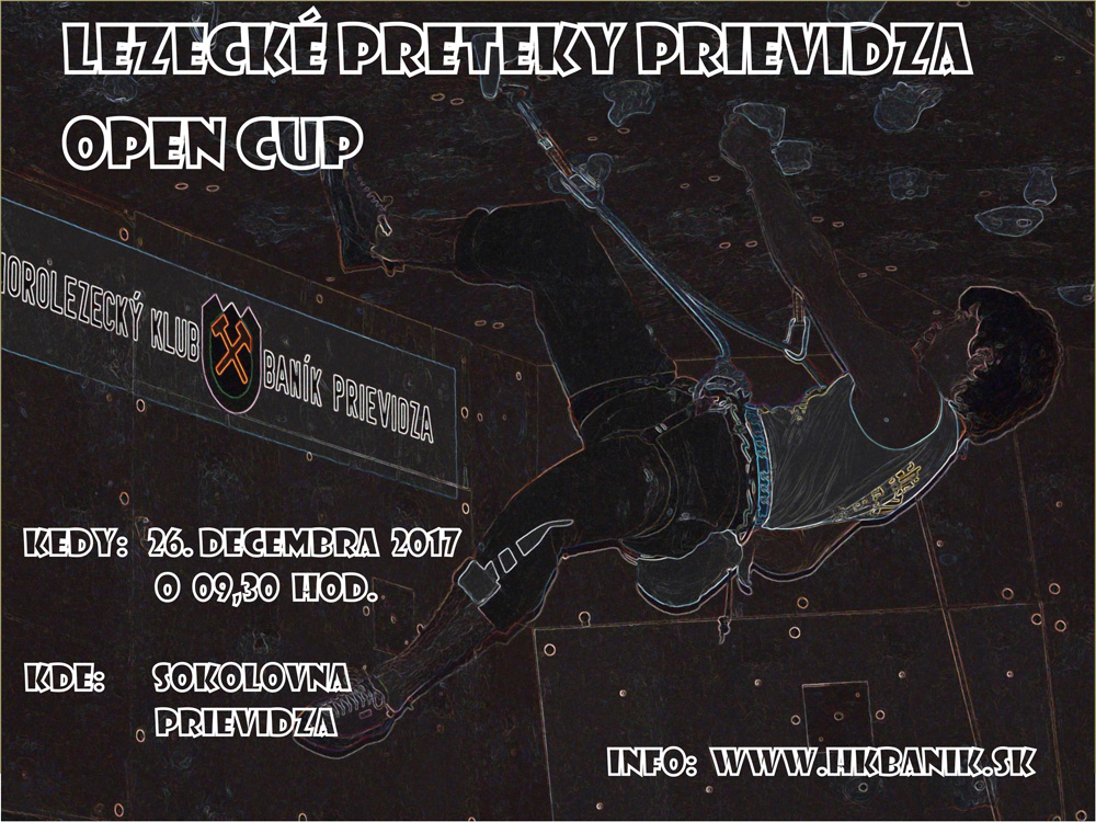 Expresky z hôr 93 - Lezecké preteky Prievidza Open Cup 2017, zdroj: hkbanik.sk