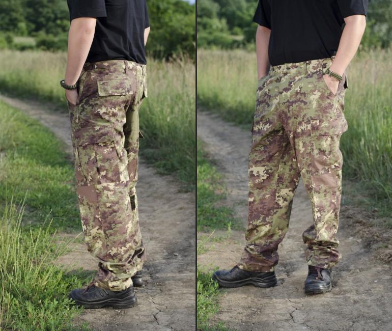maskáčové nohavice z army shopu