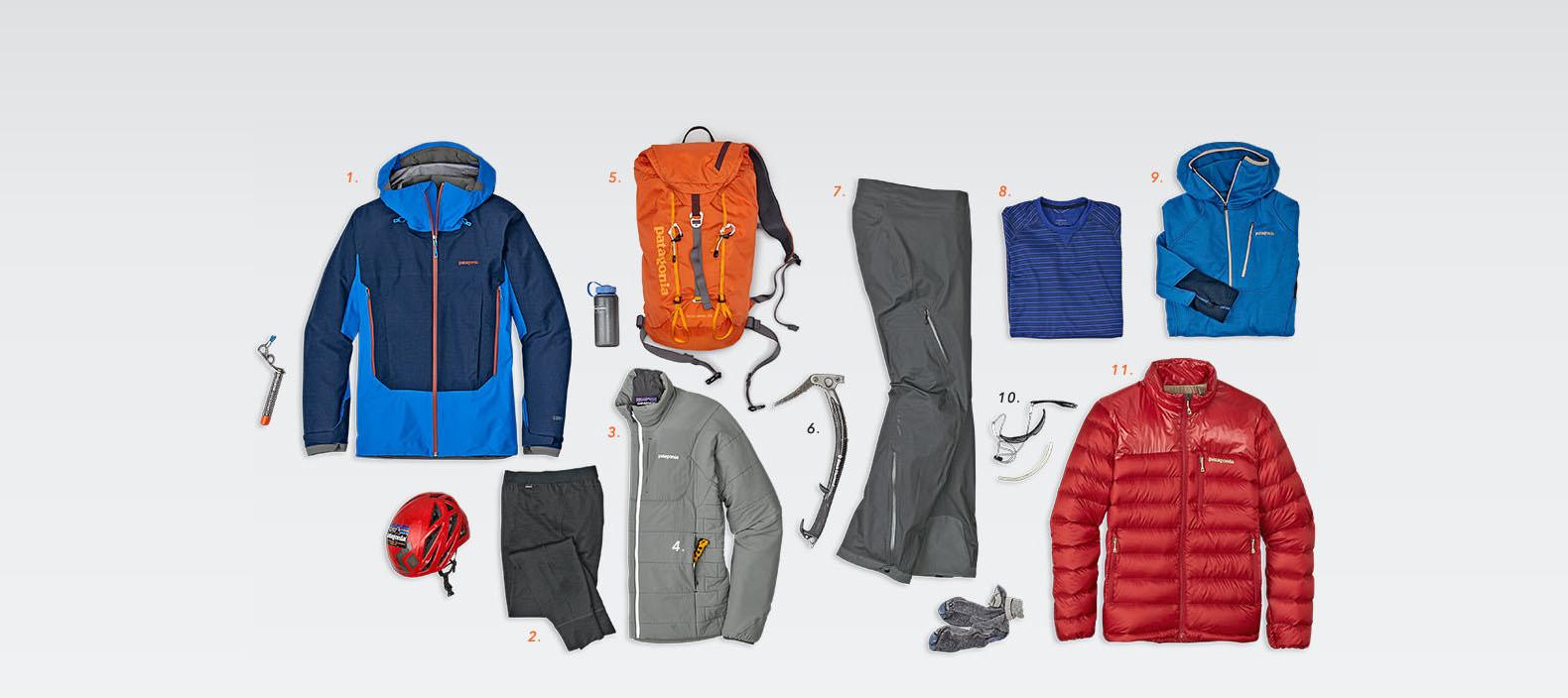 Horolezecká výbava vo Fitz traverz, ktorý použil Tommy Cladwell
