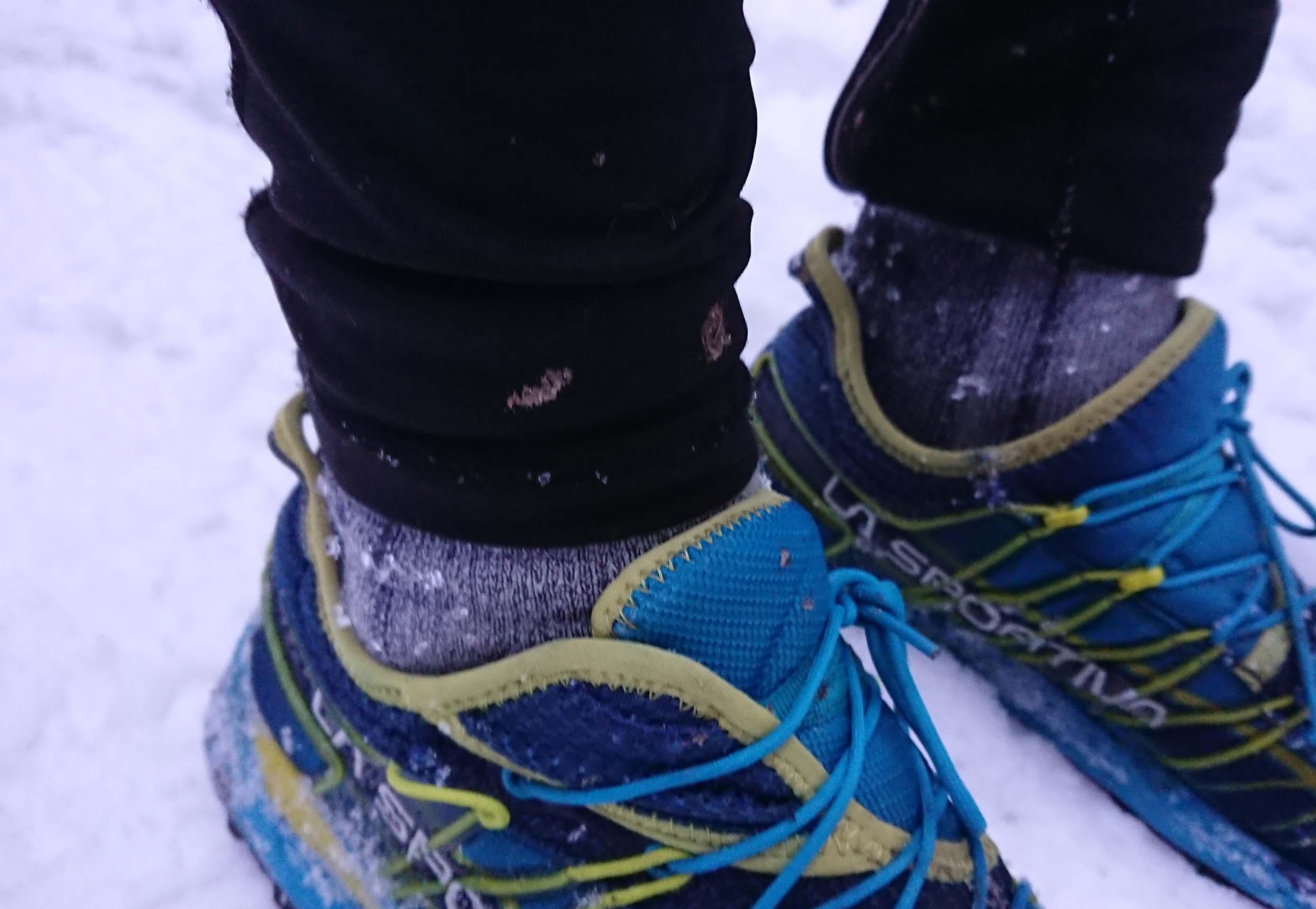 Merino pono6ky Mund altai v zime počas behania