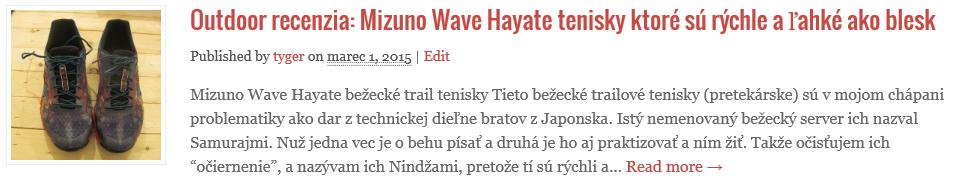 Mizuno Wave Hayate prvotná recenzia tenisiek