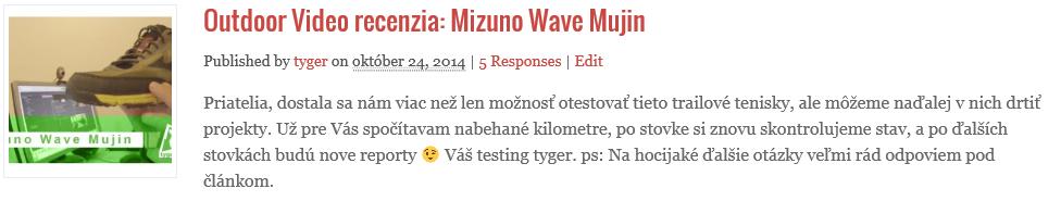 Recenzia na tenisky Mizuno Wave Mujin