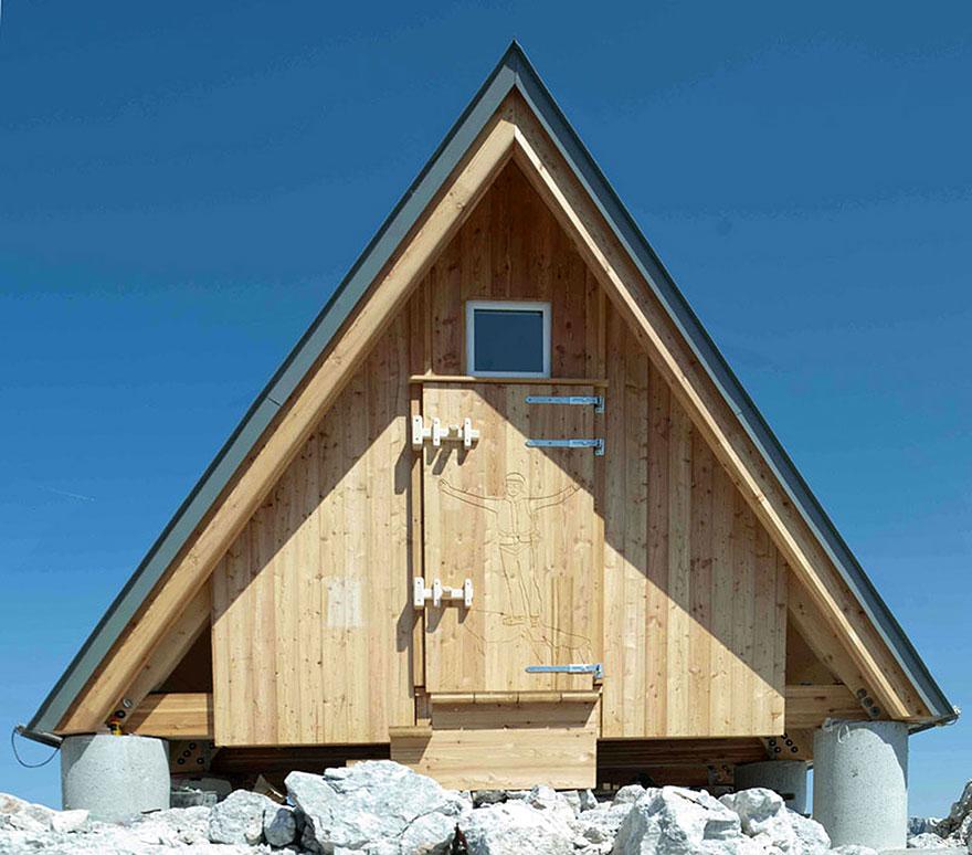 Horská chata v Julských Alpách