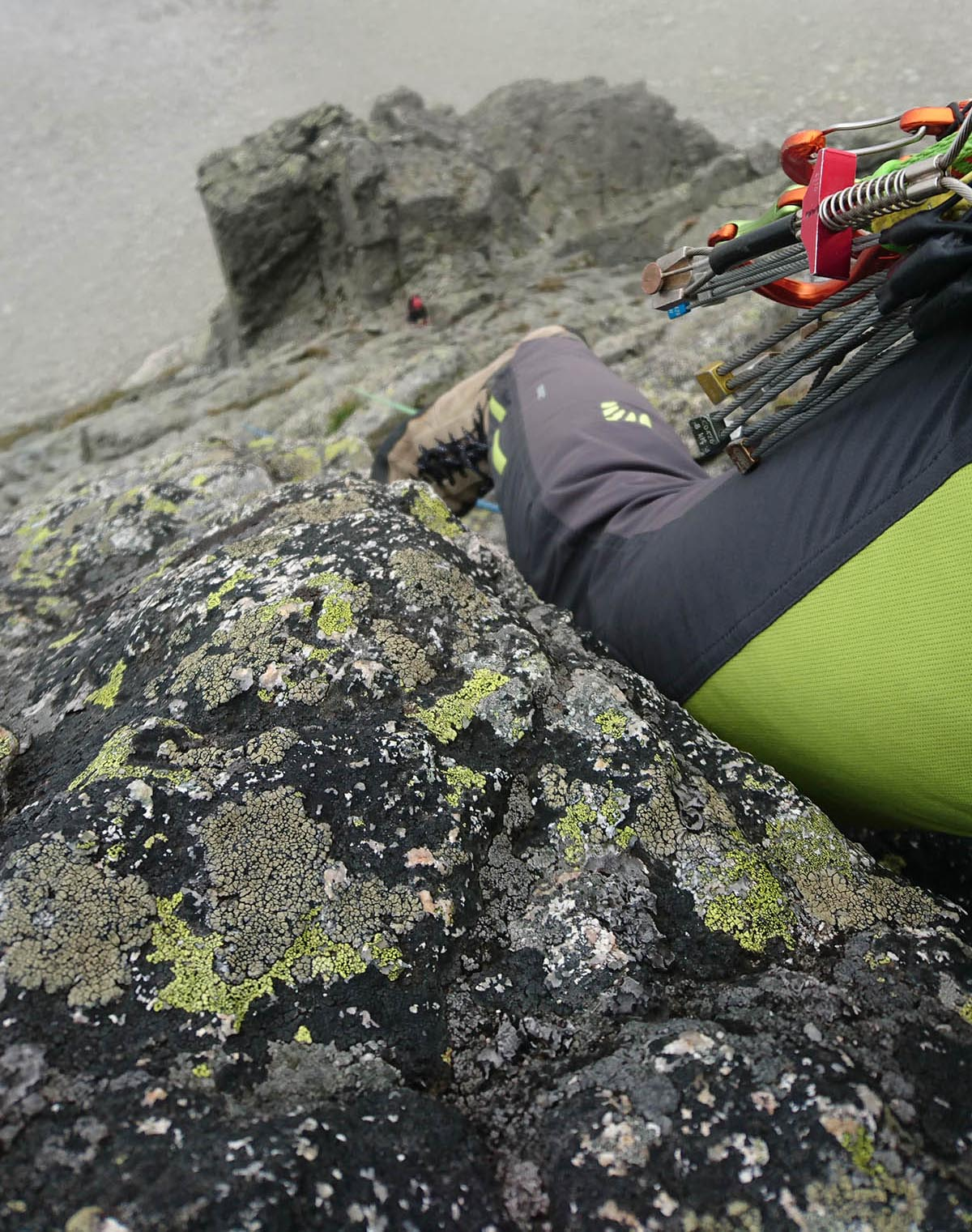 Horolezecké nohavice Karpos rock Fly pants v ceste na Baranie rohy, Šádek (Šdádeková cesta)