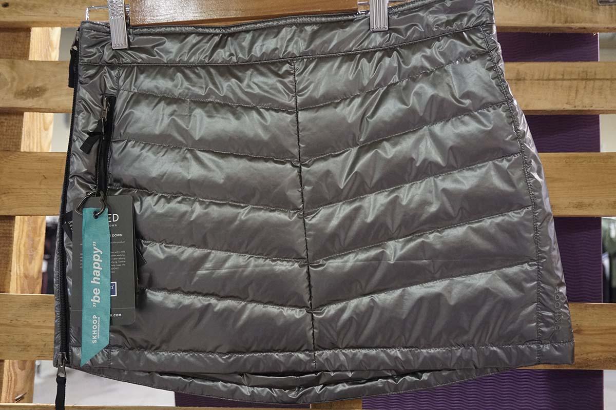 Outdoorové zateplené sukne na leto Skhoop sivá farba