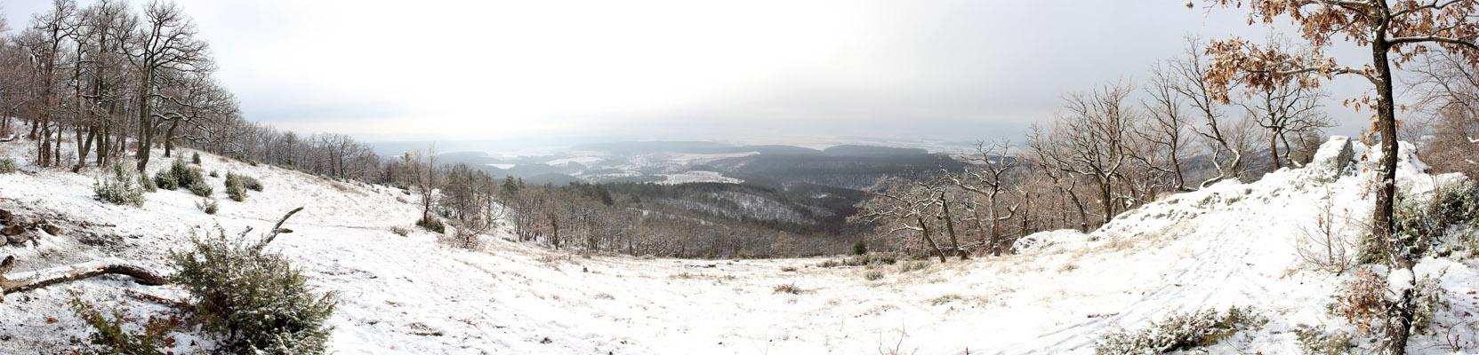 Panoráma z Bradla smerom na Ľutov