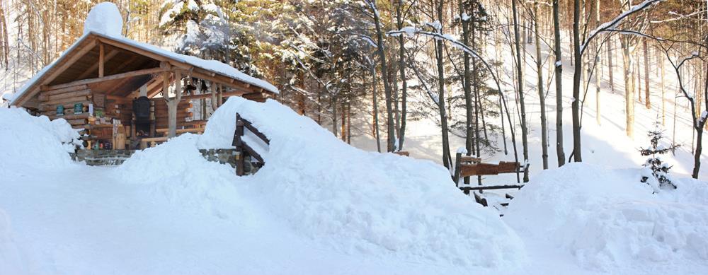 Letní bar v zime, zdroj: lesnibar.wordpress.com