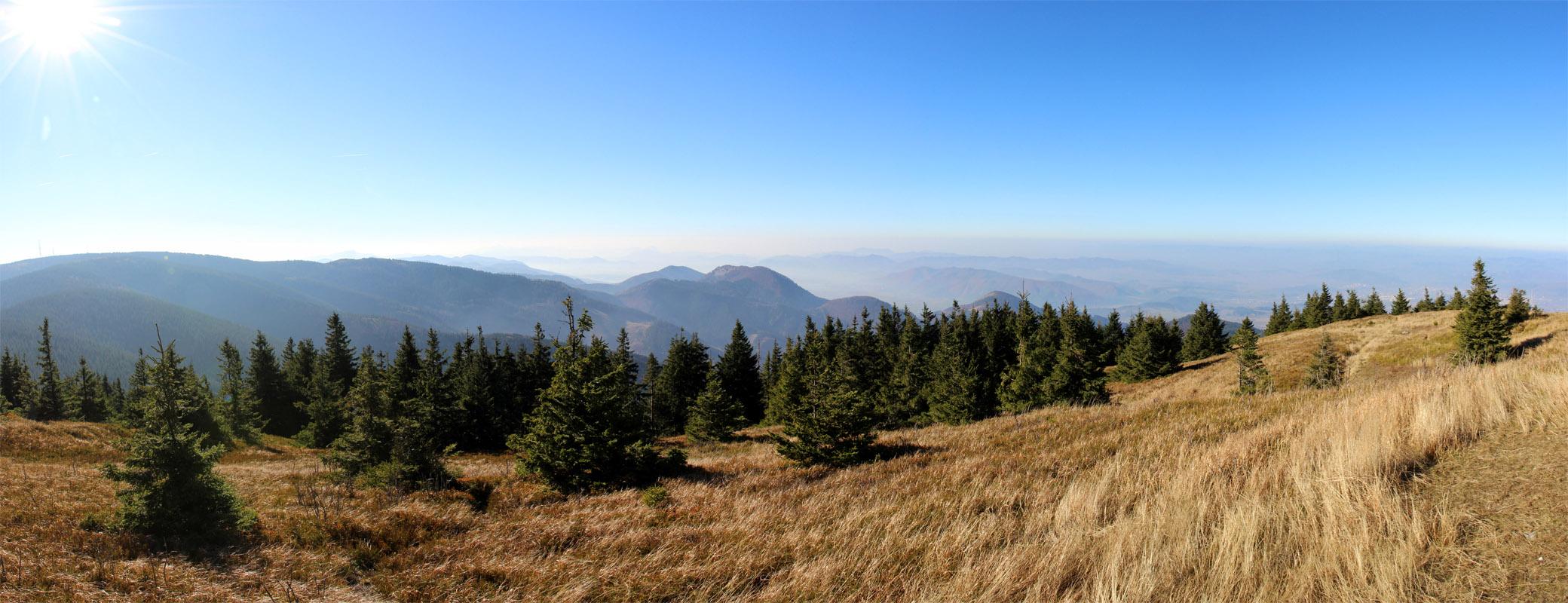 Panoráma z Minčola smerom na Rajec