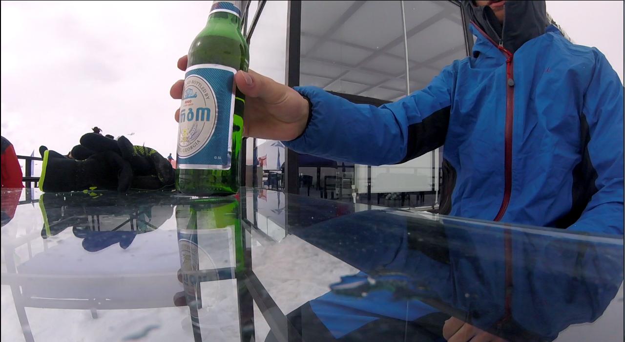 pivo na gudauri svahu v bariku