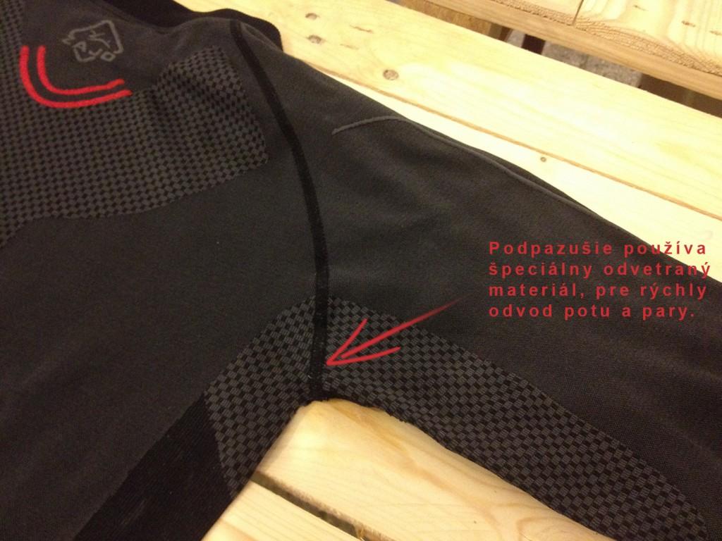 Outdoor recenzia: Zajo Peak Tshirt. Materiál na podpazuší.