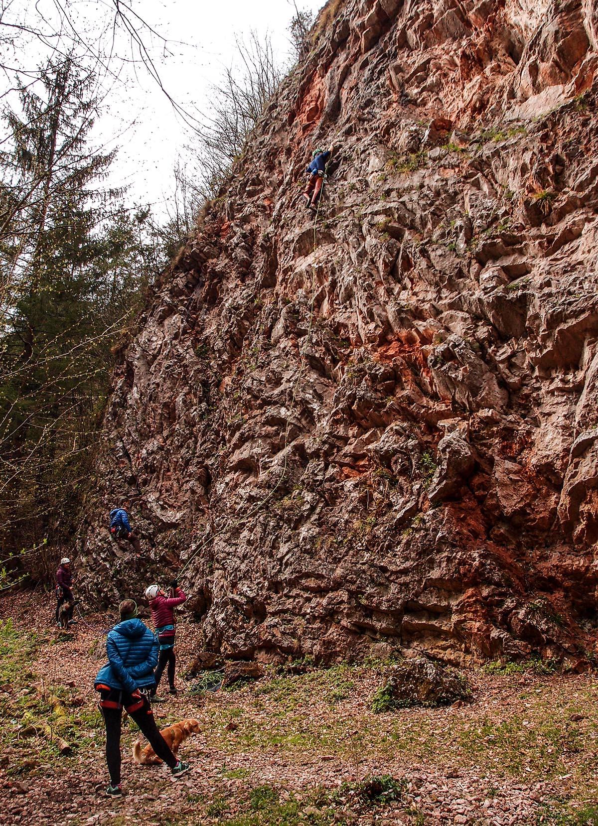 Sektor K60 priedhorie, ľahká lezecká oblasť