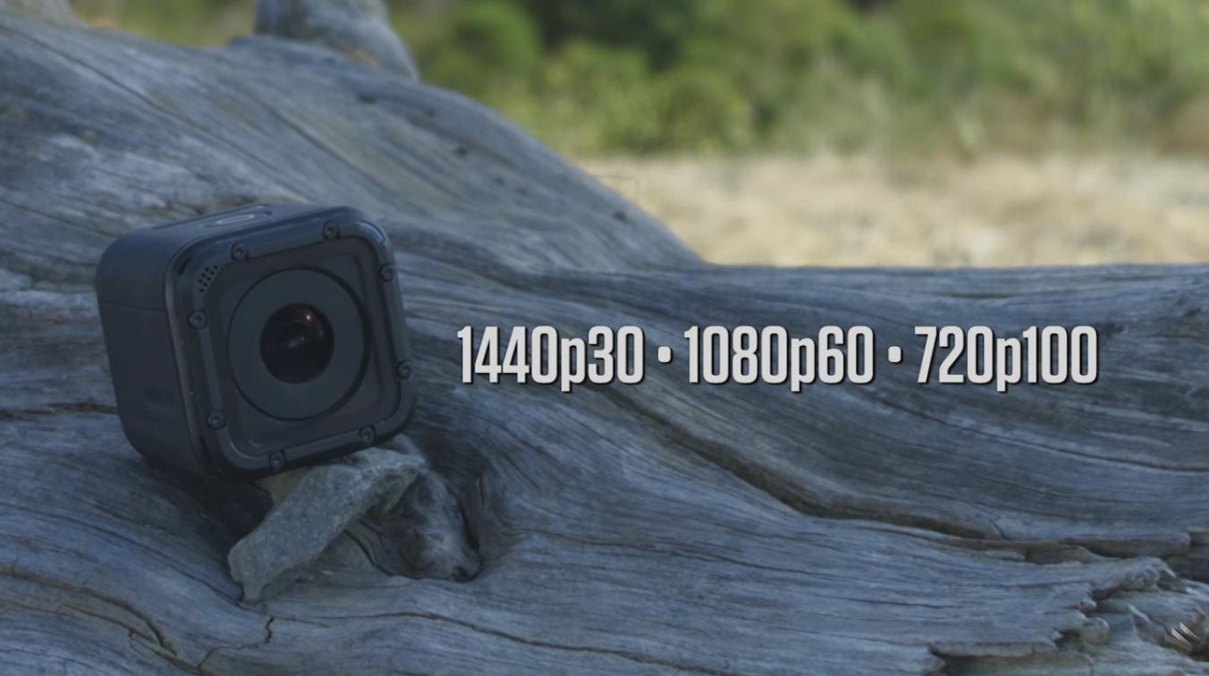 Rozsah frameov zariadenia GoPro 4 session