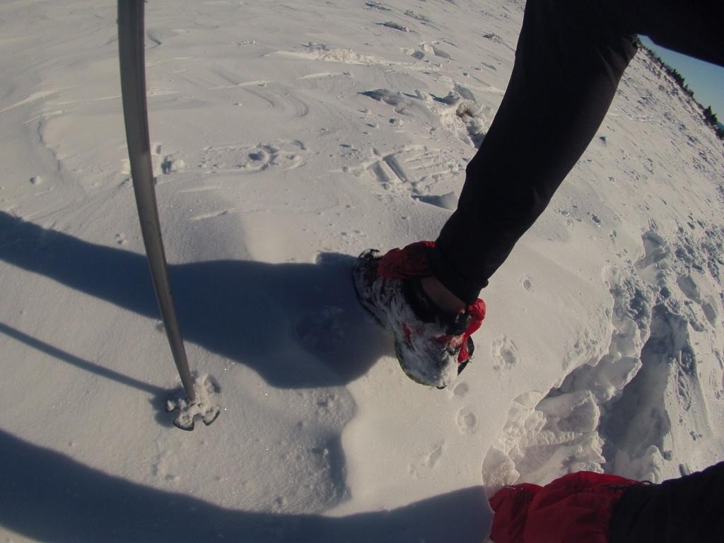 Salomon xa pro 3d gtx tenisky v zime na hrebeni Fatry