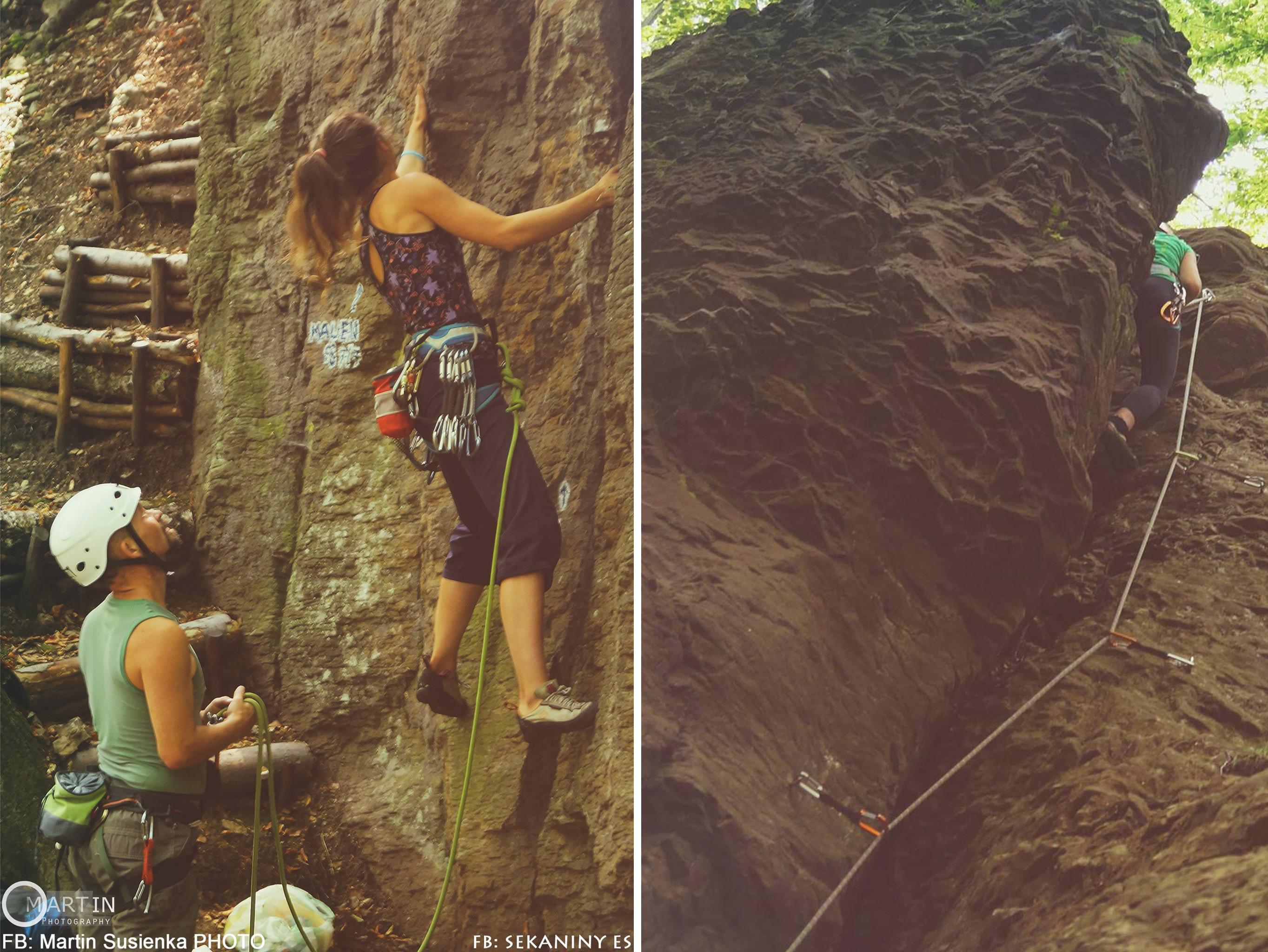 Sekaniny lezecká oblasť pre začiatočníkov