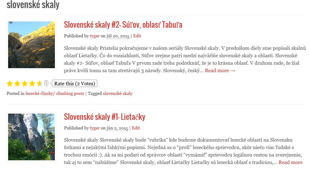 Slovenske skaly a ich lezecke oblasti