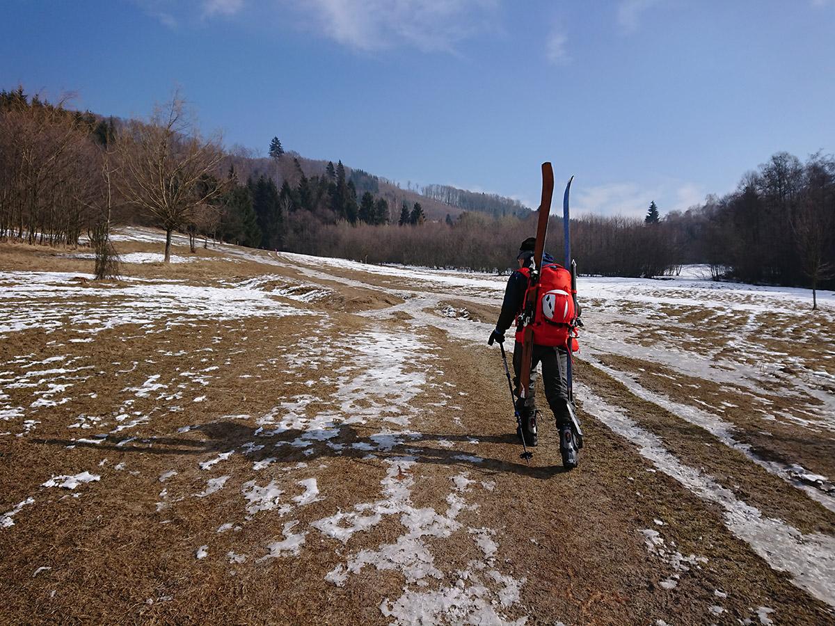 Malá Fatra na skialp lyžiach, hrebeňovka