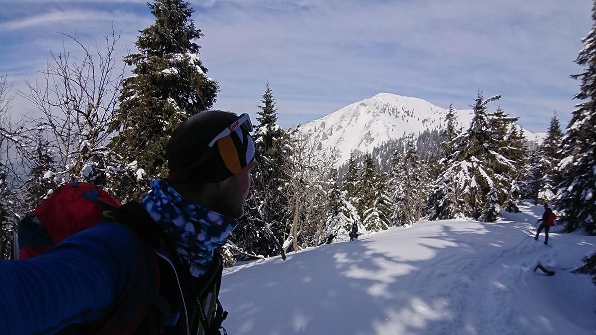 Malá Fatra na skialp lyžiach, hrebeňovka smerom do sedla pod Suchým