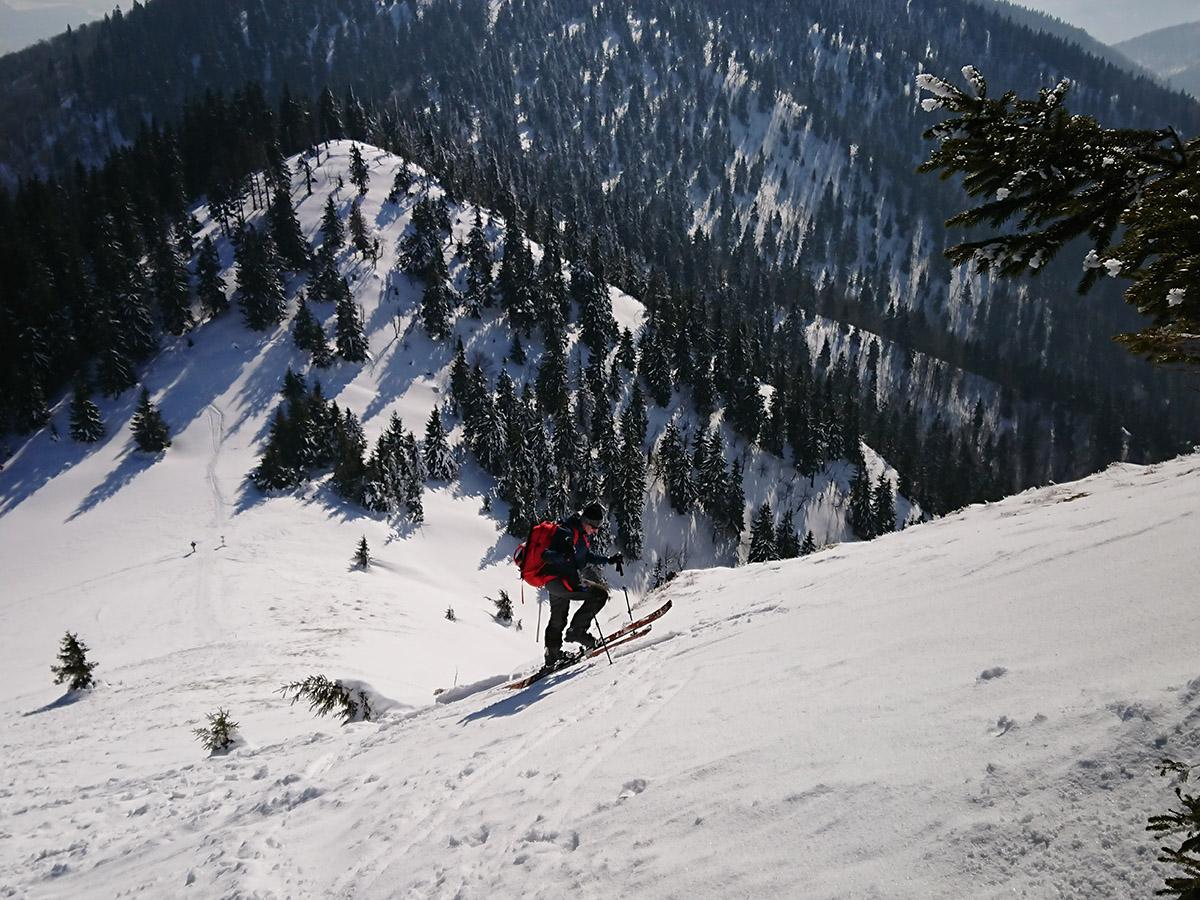Malá Fatra na skialp lyžiach, hrebeňovka výšlap na Suchý vrch
