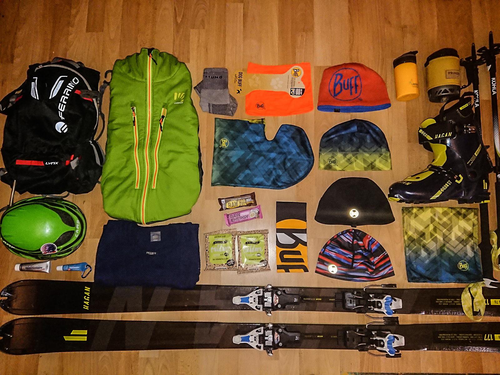 Skialpinistická výbava do Tatier