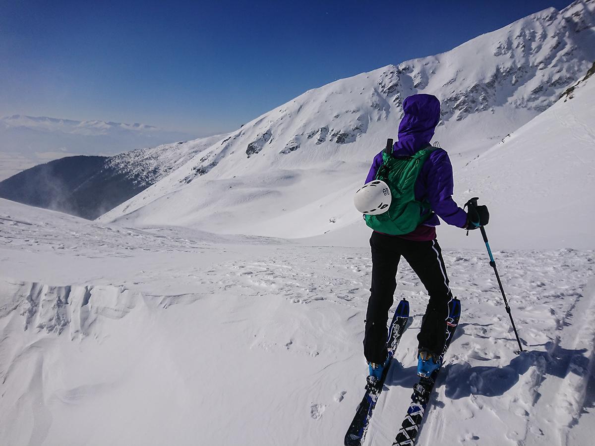 Skialpinizmus pod Hrubou Kopou v traverze ,Západné tatry