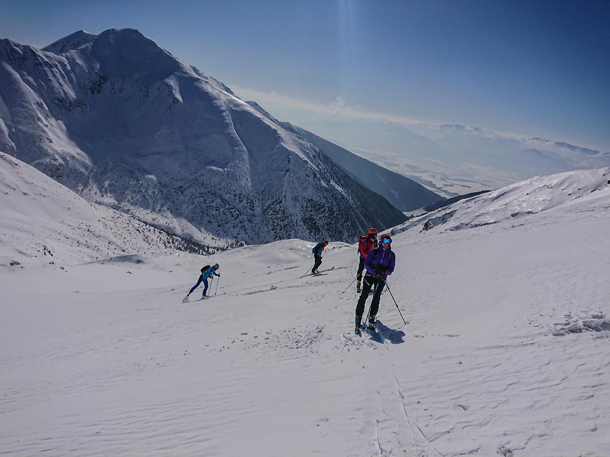 skialpinizmus smerom malé Lúčne sedielko,Západné tatry