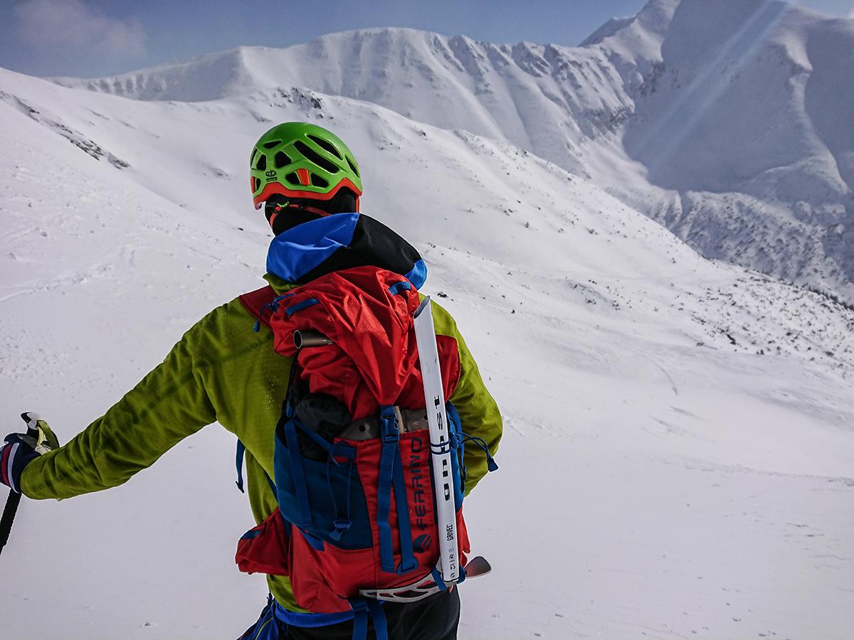 Výhľad na Baranec, skialpinizmus, Západné tatry