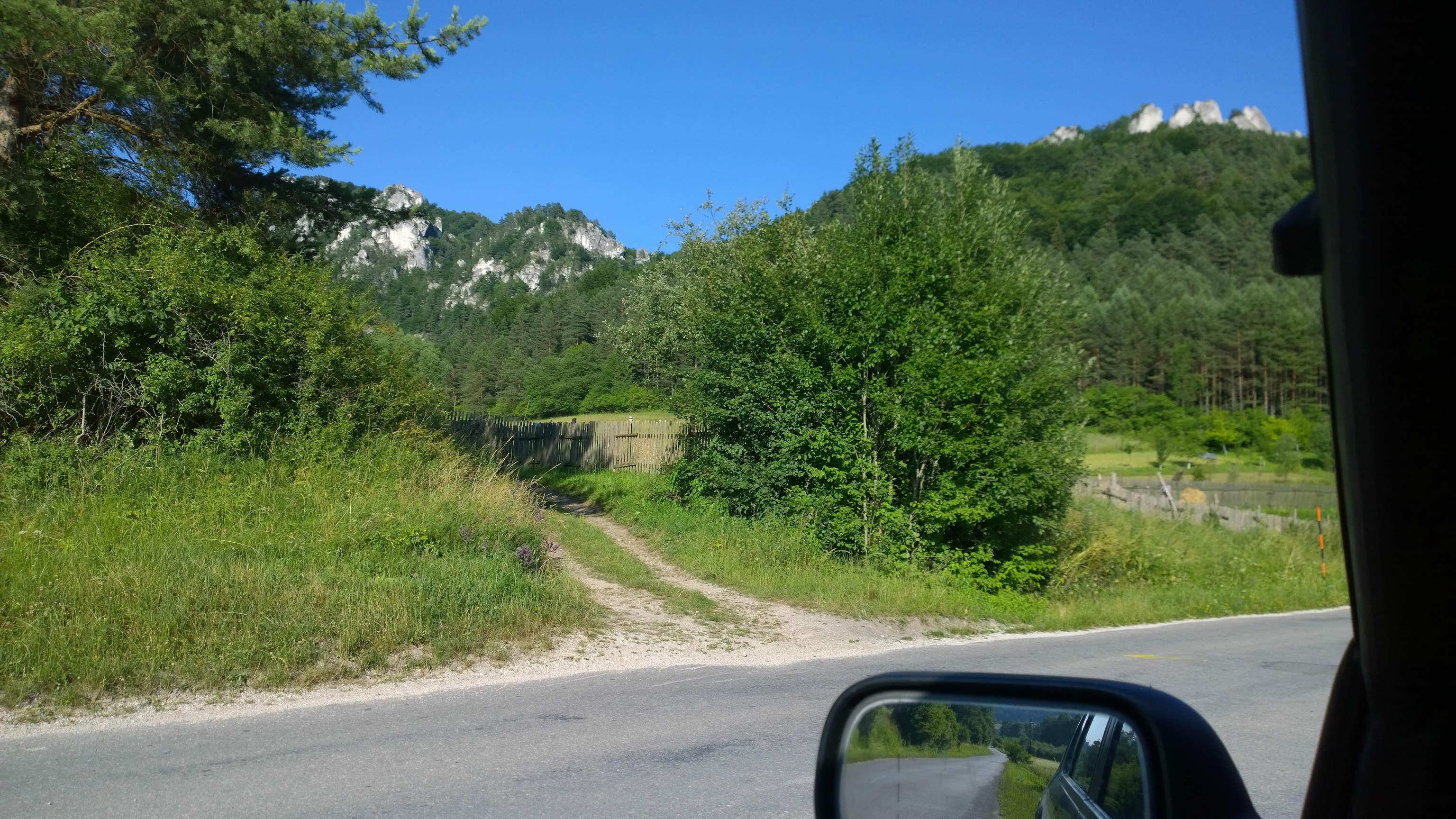 Sulov oblast Tabuľa pohľad na smer postupu