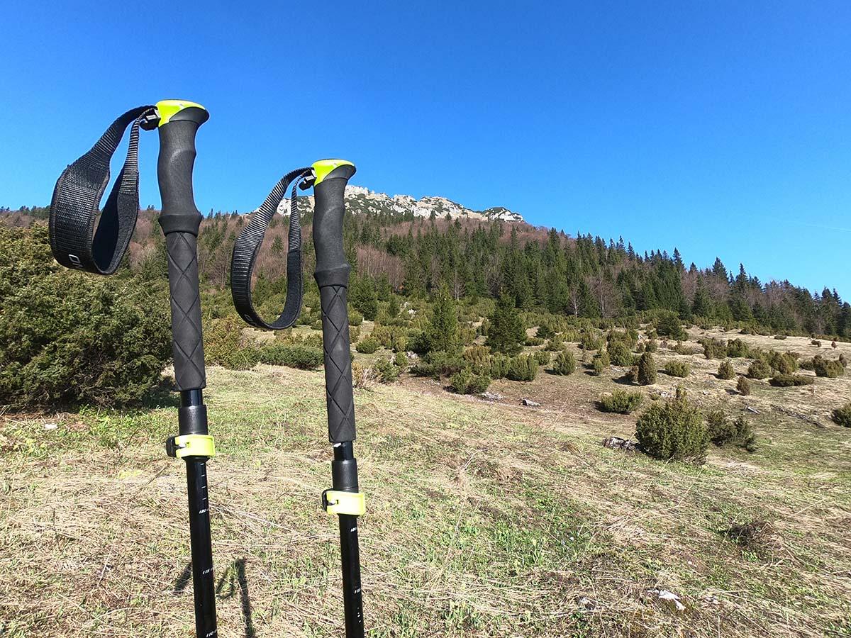 Teleskopické paličky počas prvého testu pod Malým Rozsutcom | Outdoor test