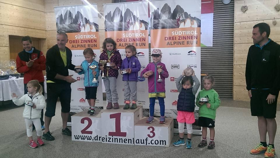 Horský pretek a víťazky najmladšej kategórie dievčat