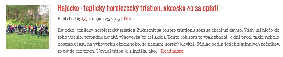 Rajecko teplicky triatlon a prilba CAMP speed