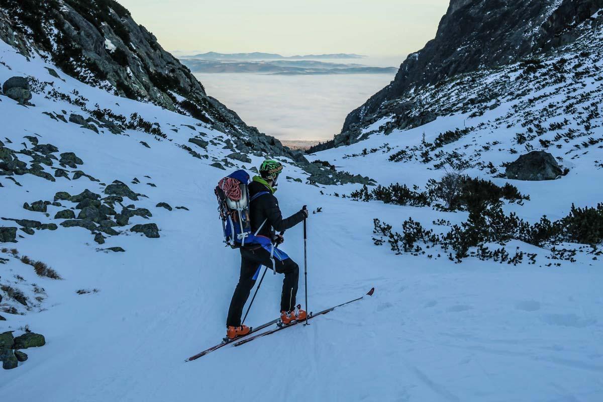 Horolezecký batoh Ferrino Triolet 32+5 vo vysokých tatrách, outdoor recenzia