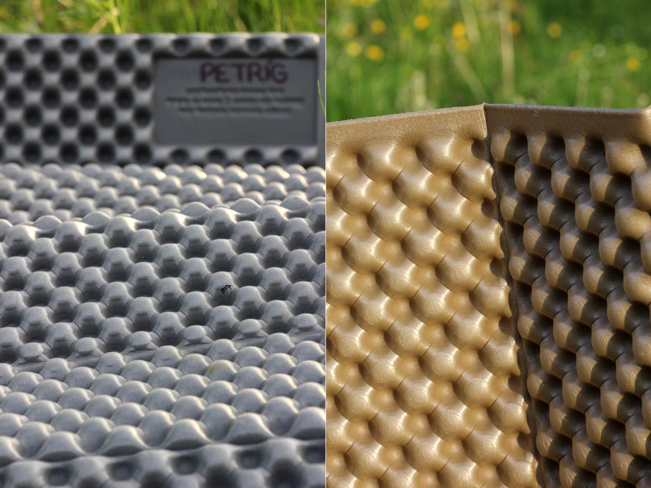 Therm-a-rest Z Lite - porovnanie povrchov z oboch strán