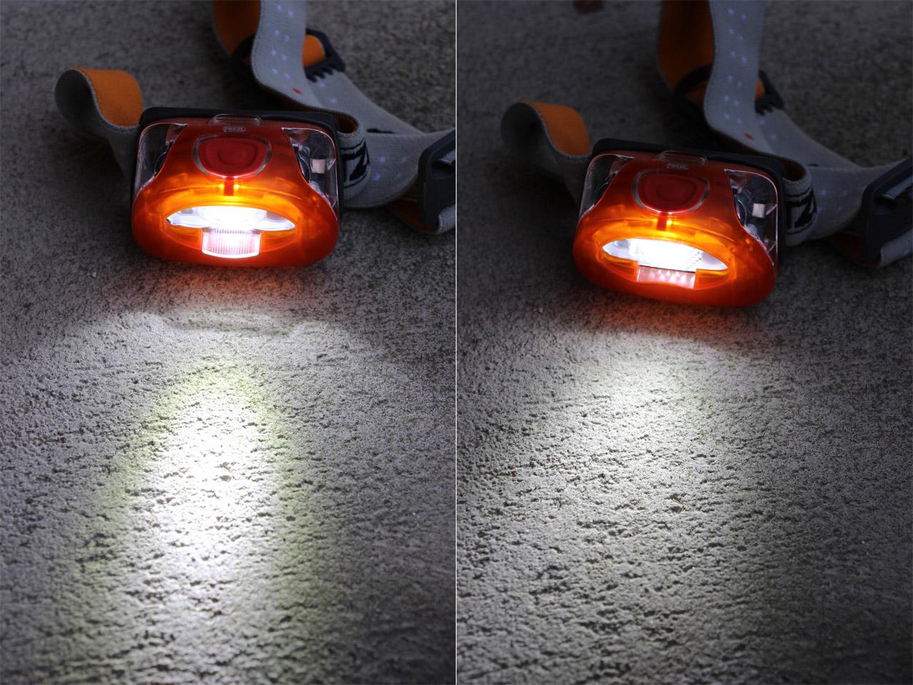 Petzl Tikka XP2 - ostré a rozptýlené svetlo