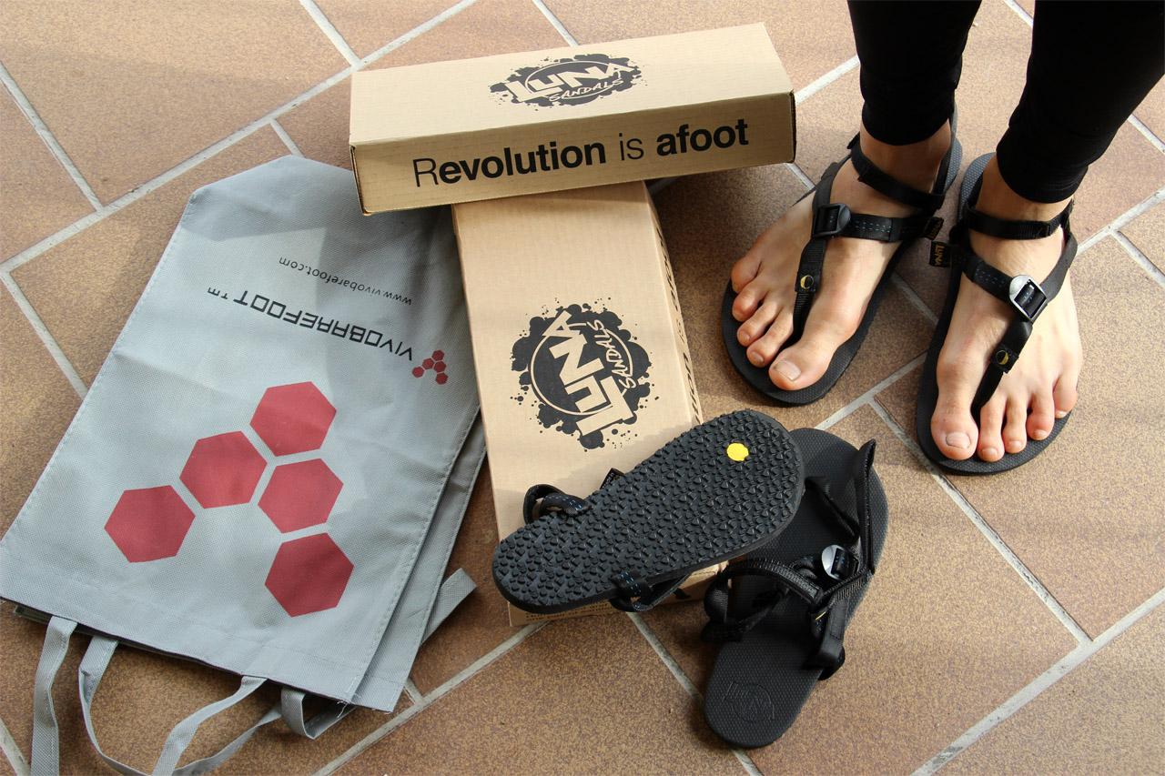 vybalené bežecké sandále Luna Oso