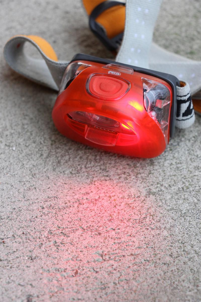 Petzl Tikka XP2 - červené svetlo