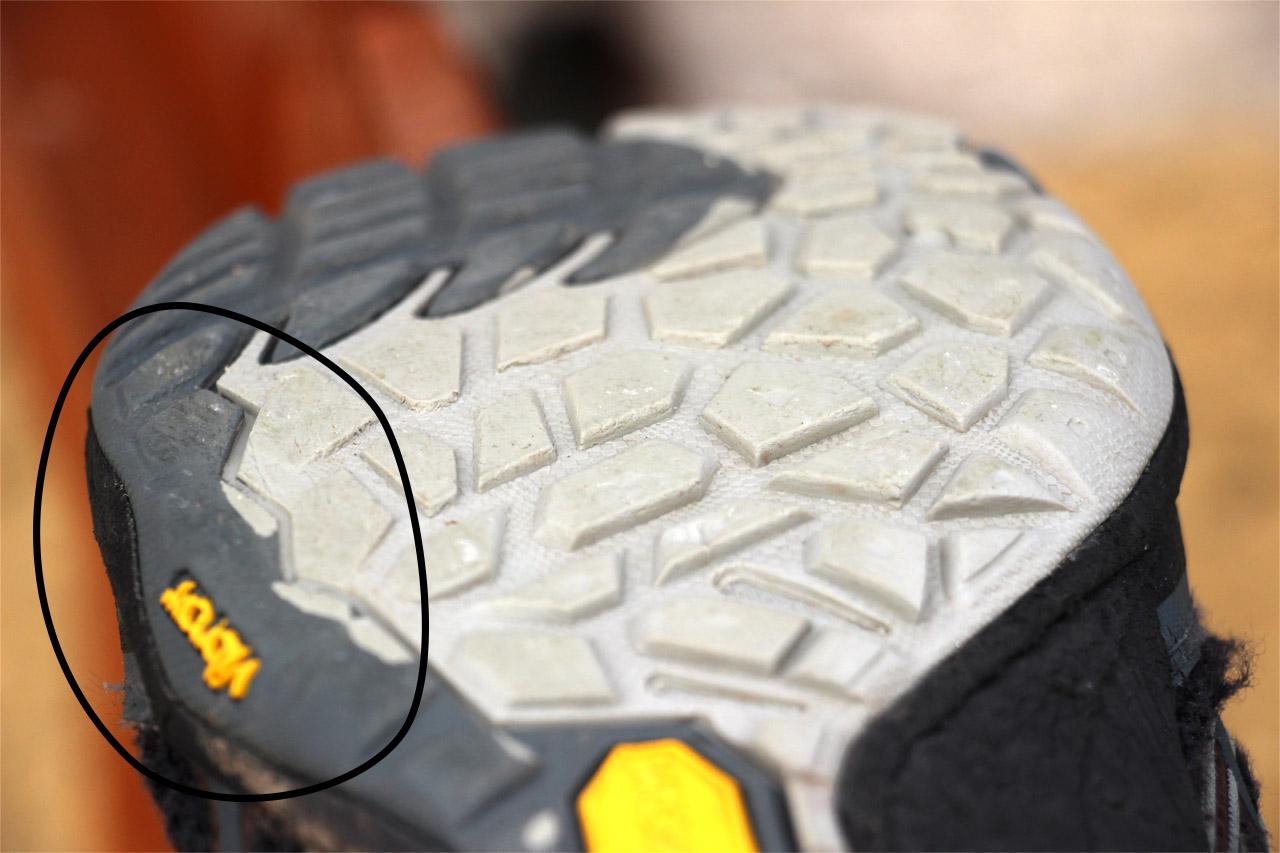 detail opotrebovania podrážky