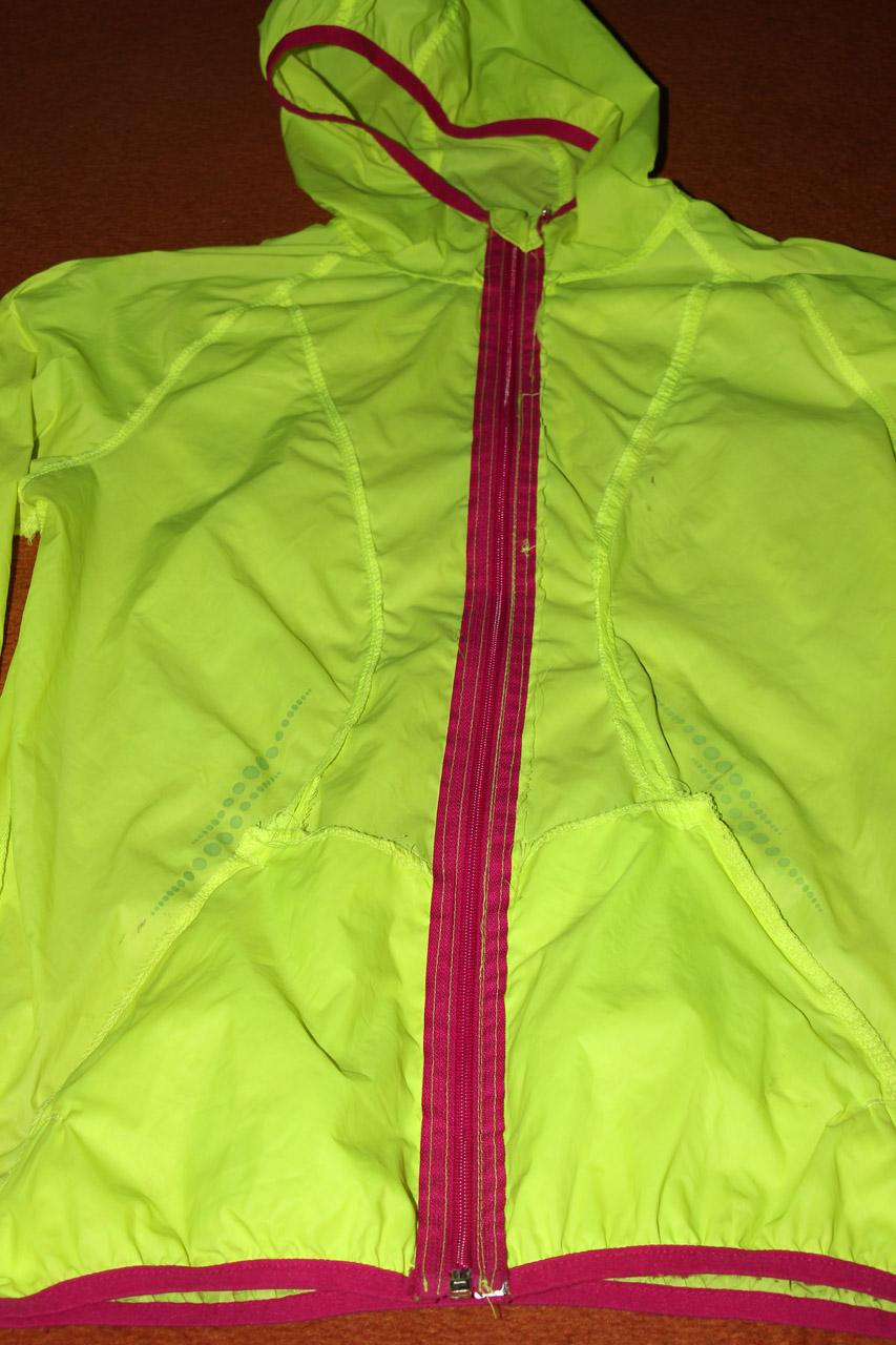 Bežecká bunda Crivit naruby