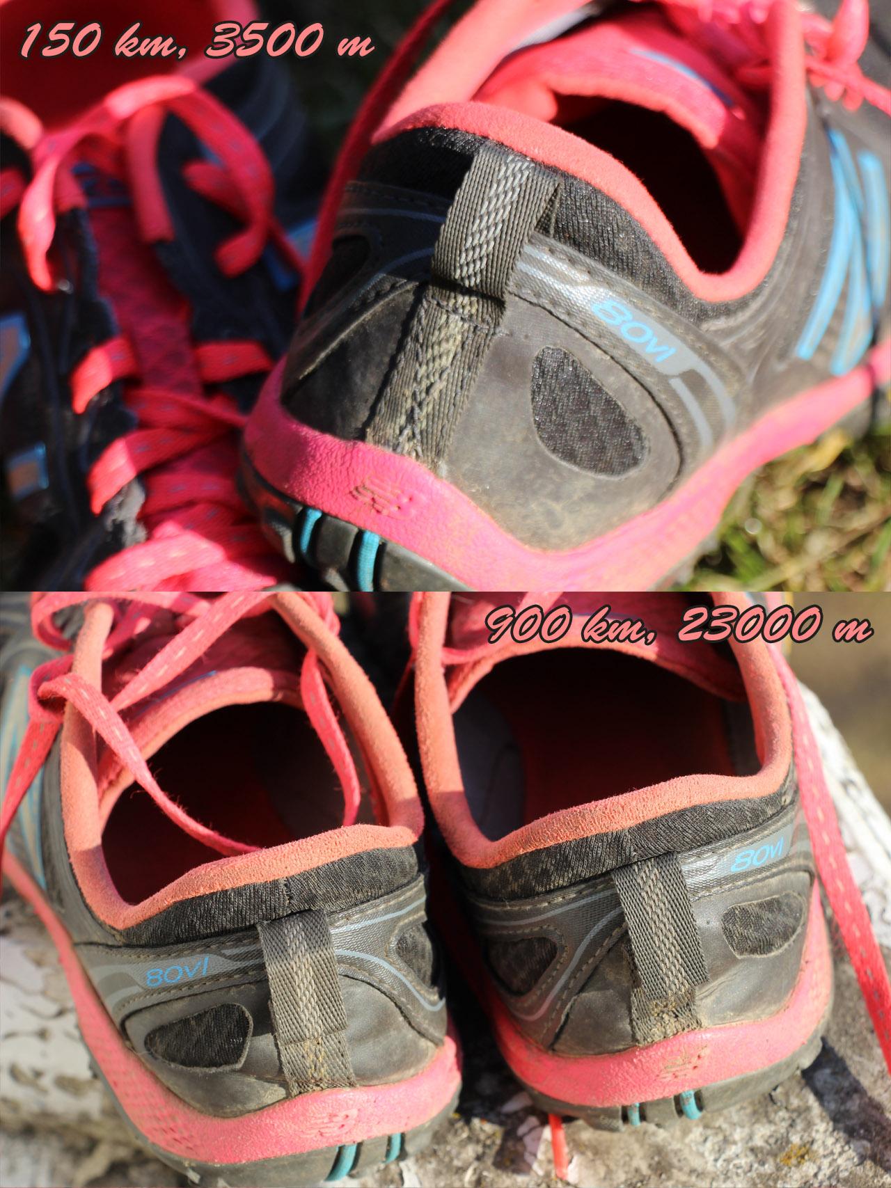 opotrebovanie zadnej časti topánok