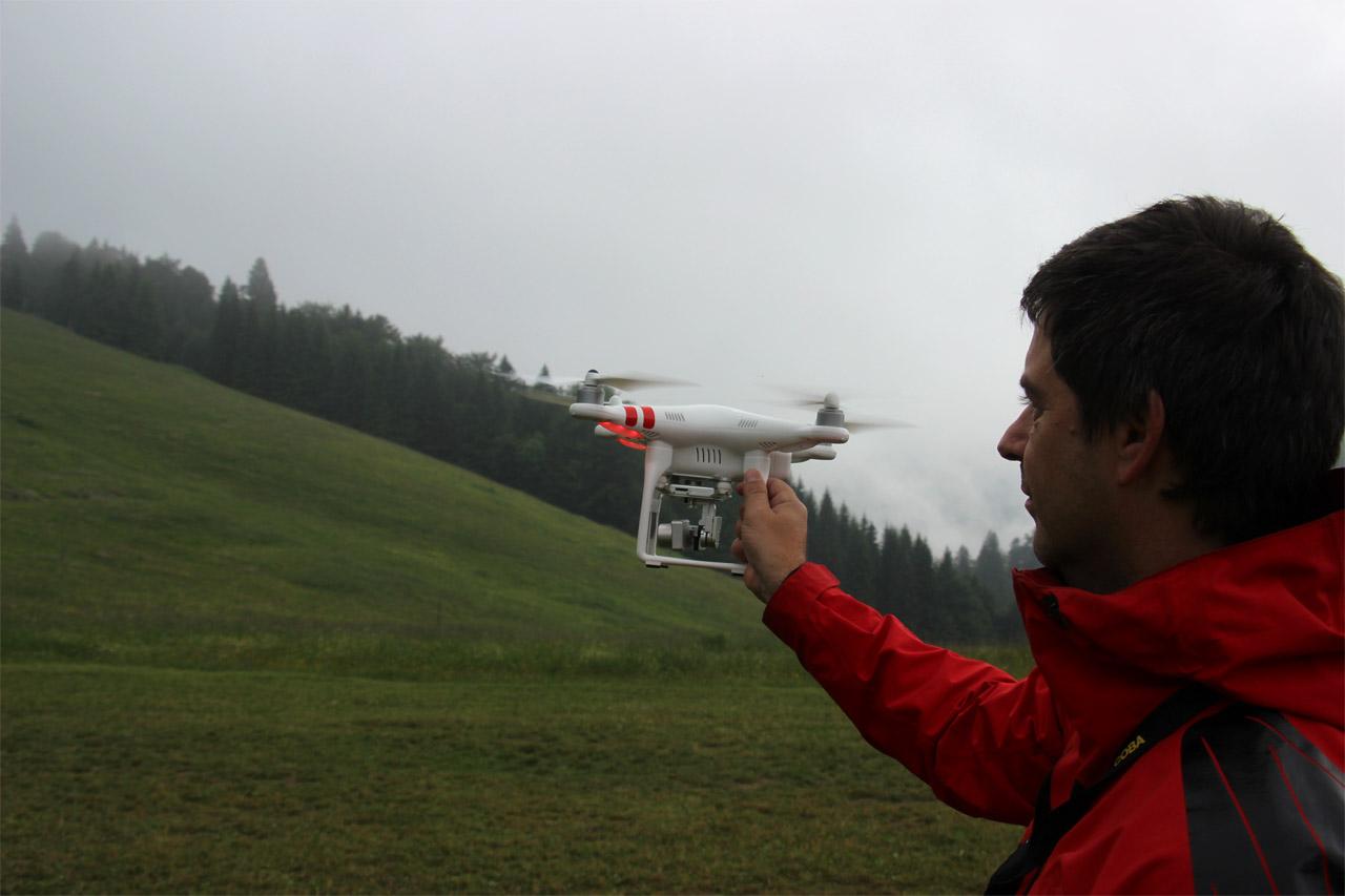 Beh na poludňový grúň, na chate akciu natáčali aj dronom