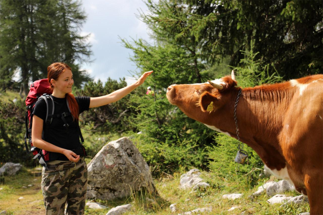 s batohom Deuter Guide 40+ SL v Júlskych Alpách