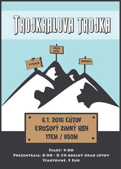 Plagát behu Trojkráľová trojka 2016